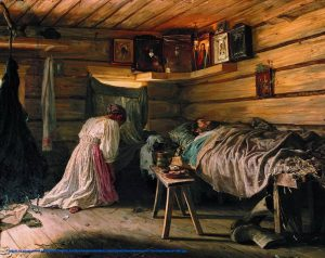 Vasili Maksimov - The Sick Husband 1881